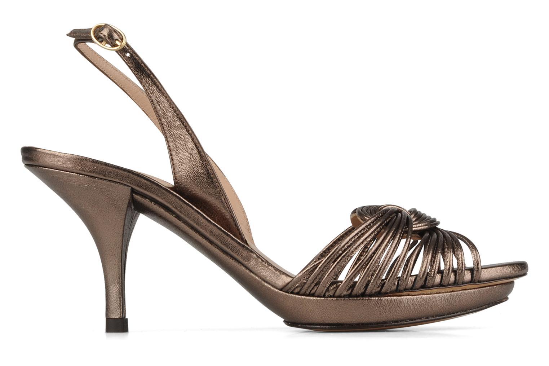 Sandales et nu-pieds Pura Lopez Lopy Or et bronze vue derrière
