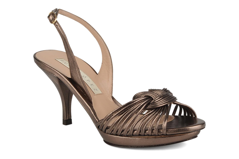 Sandales et nu-pieds Pura Lopez Lopy Or et bronze vue détail/paire