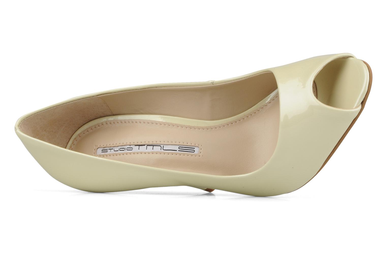 Zapatos de tacón Studio TMLS Louanne Beige vista lateral izquierda