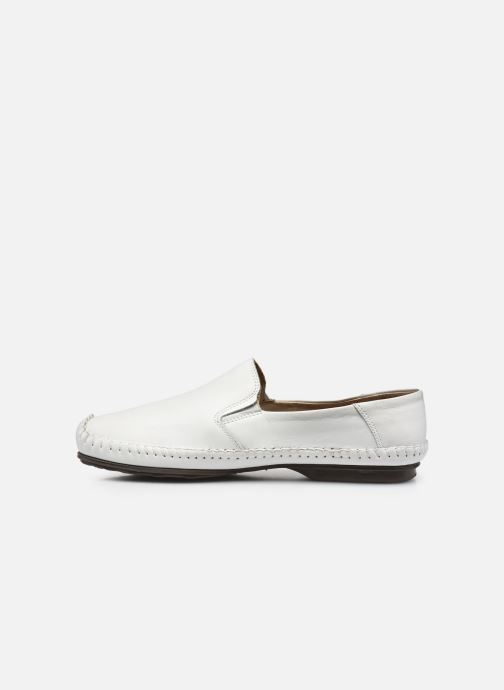 Mocasines Fluchos Niza 612 Blanco vista de frente