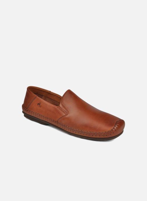 Loafers Fluchos Niza 612 Brun detaljeret billede af skoene