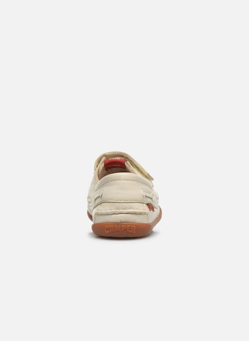 Chaussures à scratch Camper Peu 80080 Beige vue droite