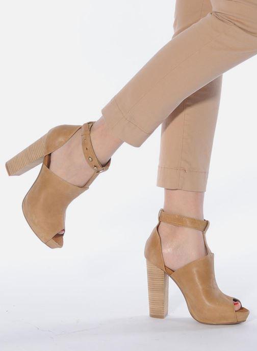 Sandales et nu-pieds Friis & company Valerie Beige vue bas / vue portée sac
