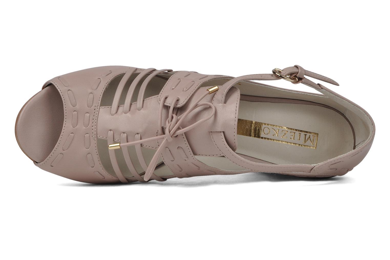Sandales et nu-pieds Miezko Benka Rose vue gauche