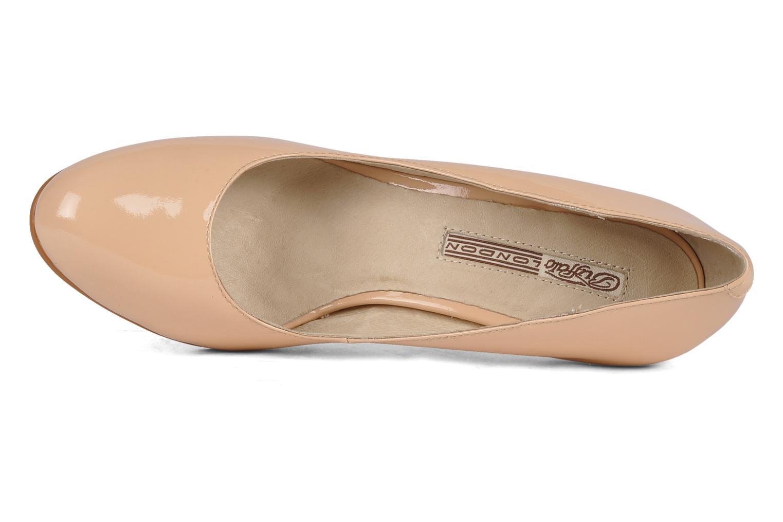 Zapatos de tacón Buffalo Klist Beige vista lateral izquierda