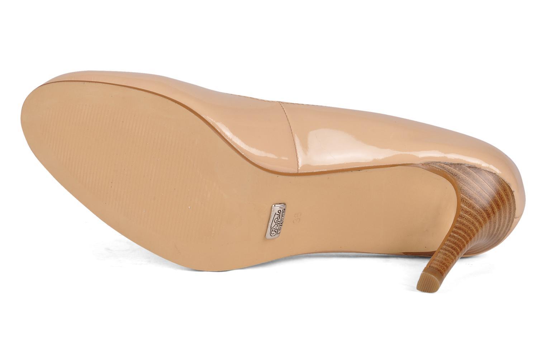 Zapatos de tacón Buffalo Klist Beige vista de arriba