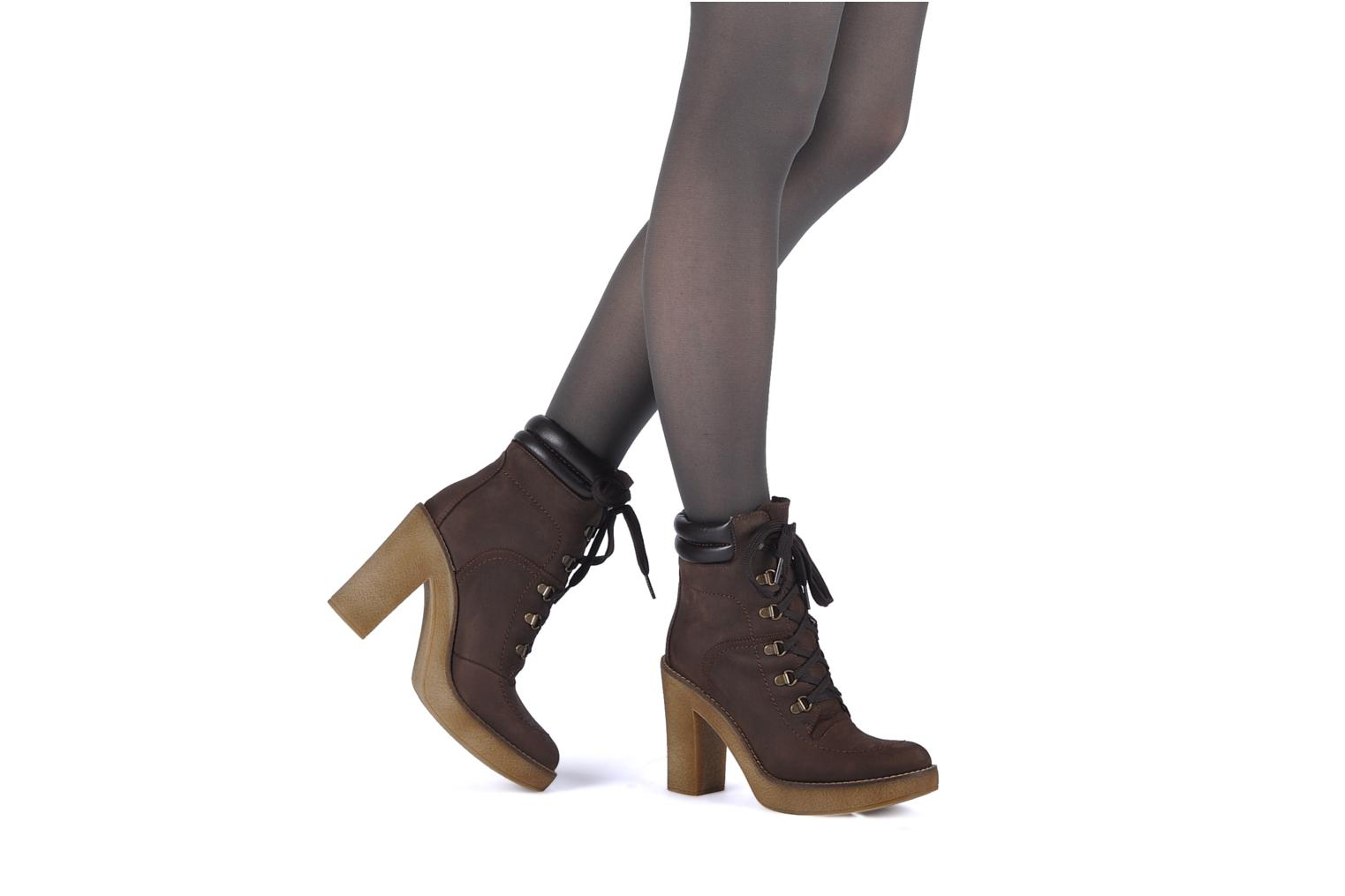Ankle boots Jonak Galina Brown view from underneath / model view