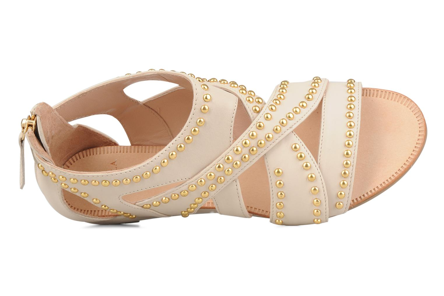 Sandals Carvela Kurly Beige view from the left