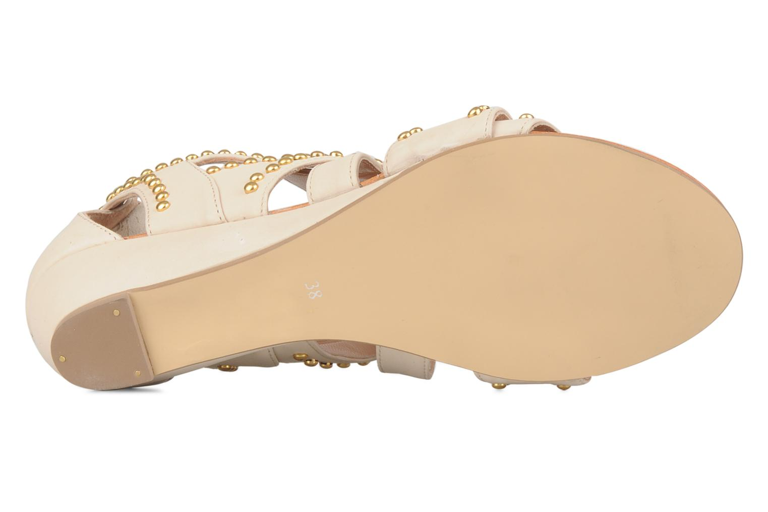 Sandals Carvela Kurly Beige view from above