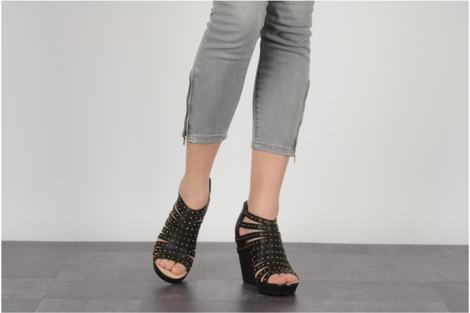 Sandals Carvela Animal Black view from underneath / model view
