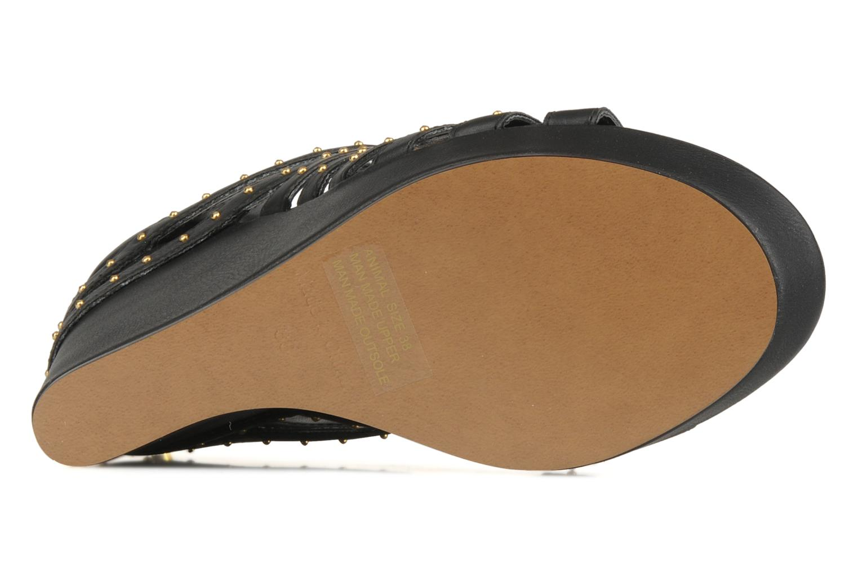 Sandales et nu-pieds Carvela Animal Noir vue haut