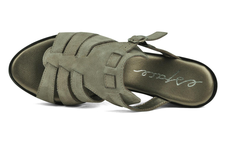 Sandales et nu-pieds Espace Angie Gris vue gauche