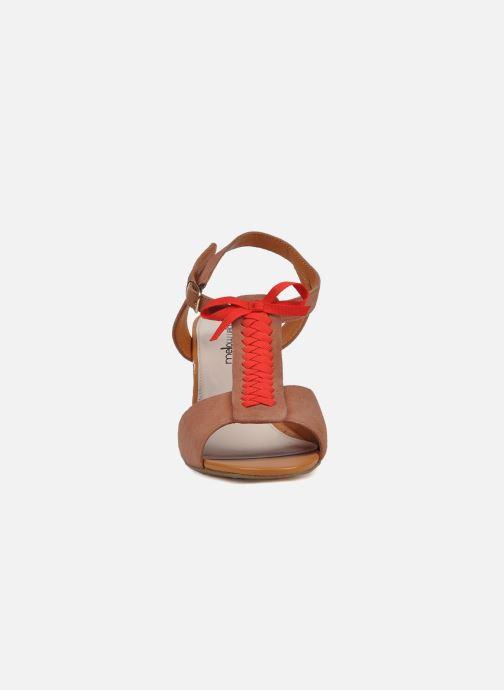 Sandales et nu-pieds Mellow Yellow Jo Marron vue portées chaussures