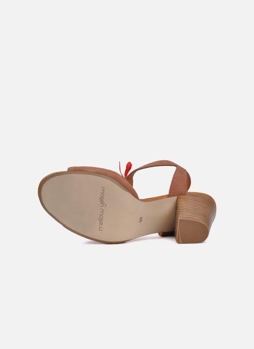 Sandales et nu-pieds Mellow Yellow Jo Marron vue haut