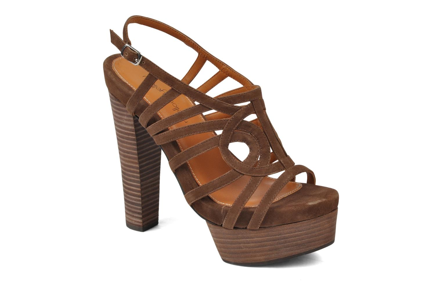 Sandals Mellow Yellow Jenvy Brown detailed view/ Pair view