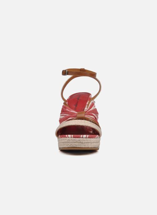 Sandales et nu-pieds Mellow Yellow Jasper Rouge vue portées chaussures