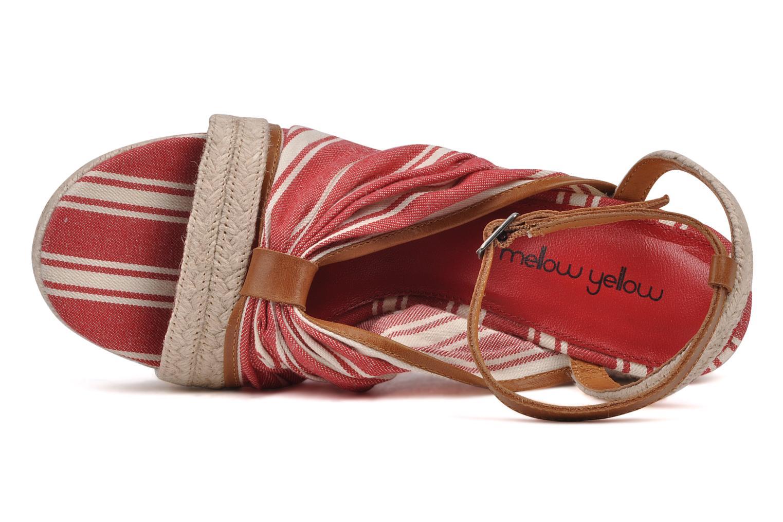 Sandalias Mellow Yellow Jasper Rojo vista lateral izquierda
