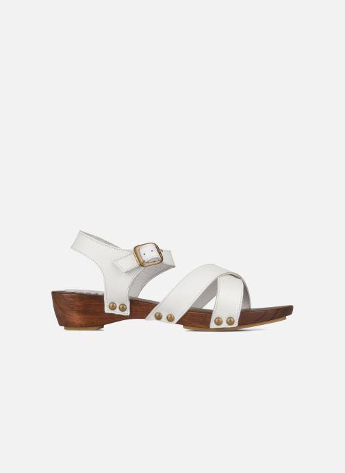 Sandales et nu-pieds C'Entre Maman & Moi! Wam Blanc vue derrière