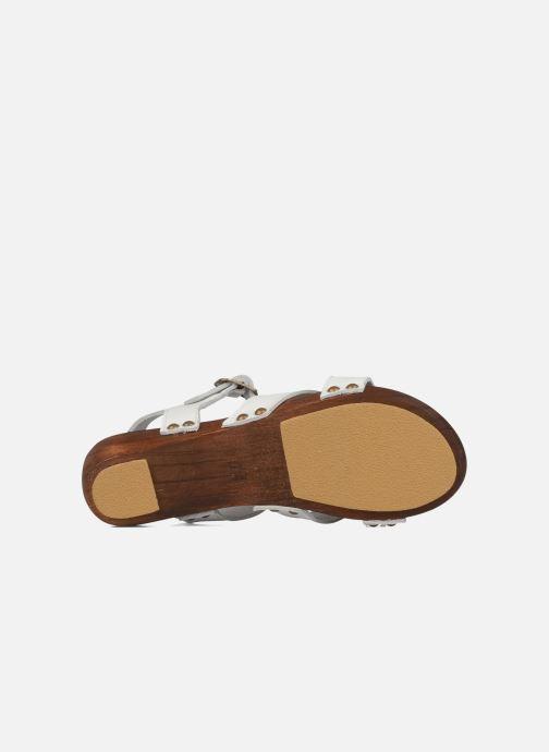 Sandales et nu-pieds C'Entre Maman & Moi! Wam Blanc vue haut