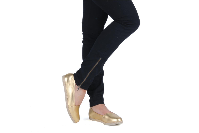 Ballerines Zespà Cordoba Or et bronze vue bas / vue portée sac