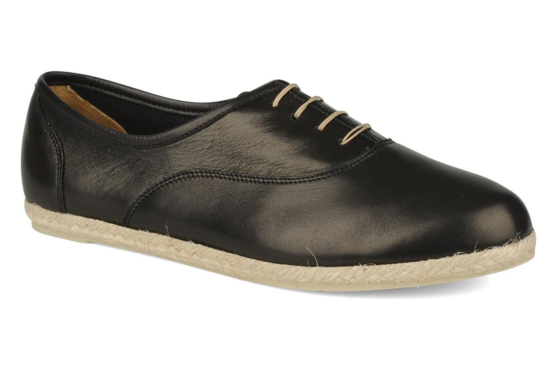 Snøresko Zespà Salhia Sort detaljeret billede af skoene