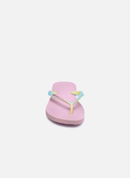 Tongs Havaianas Top Mix F Rose vue portées chaussures