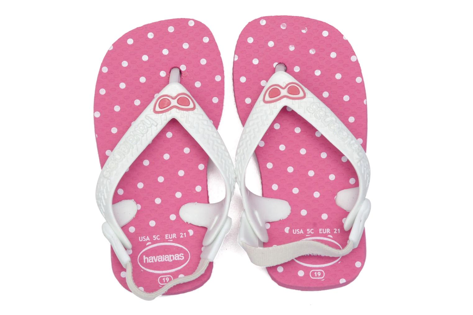 Tongs Havaianas Baby chic Rose vue 3/4