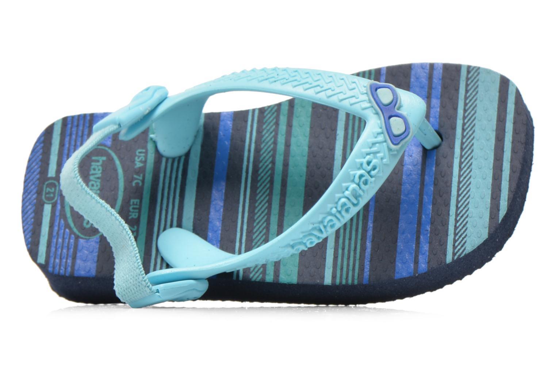 Flip flops Havaianas Baby chic Blå bild från vänster sidan