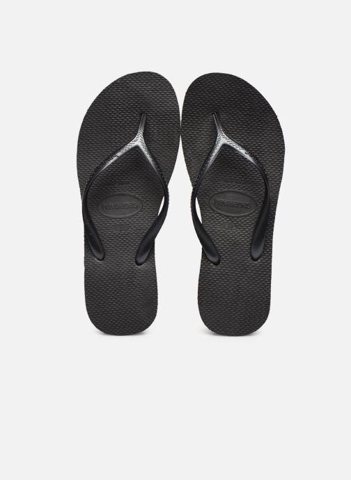 Tongs Havaianas High light F Noir vue portées chaussures