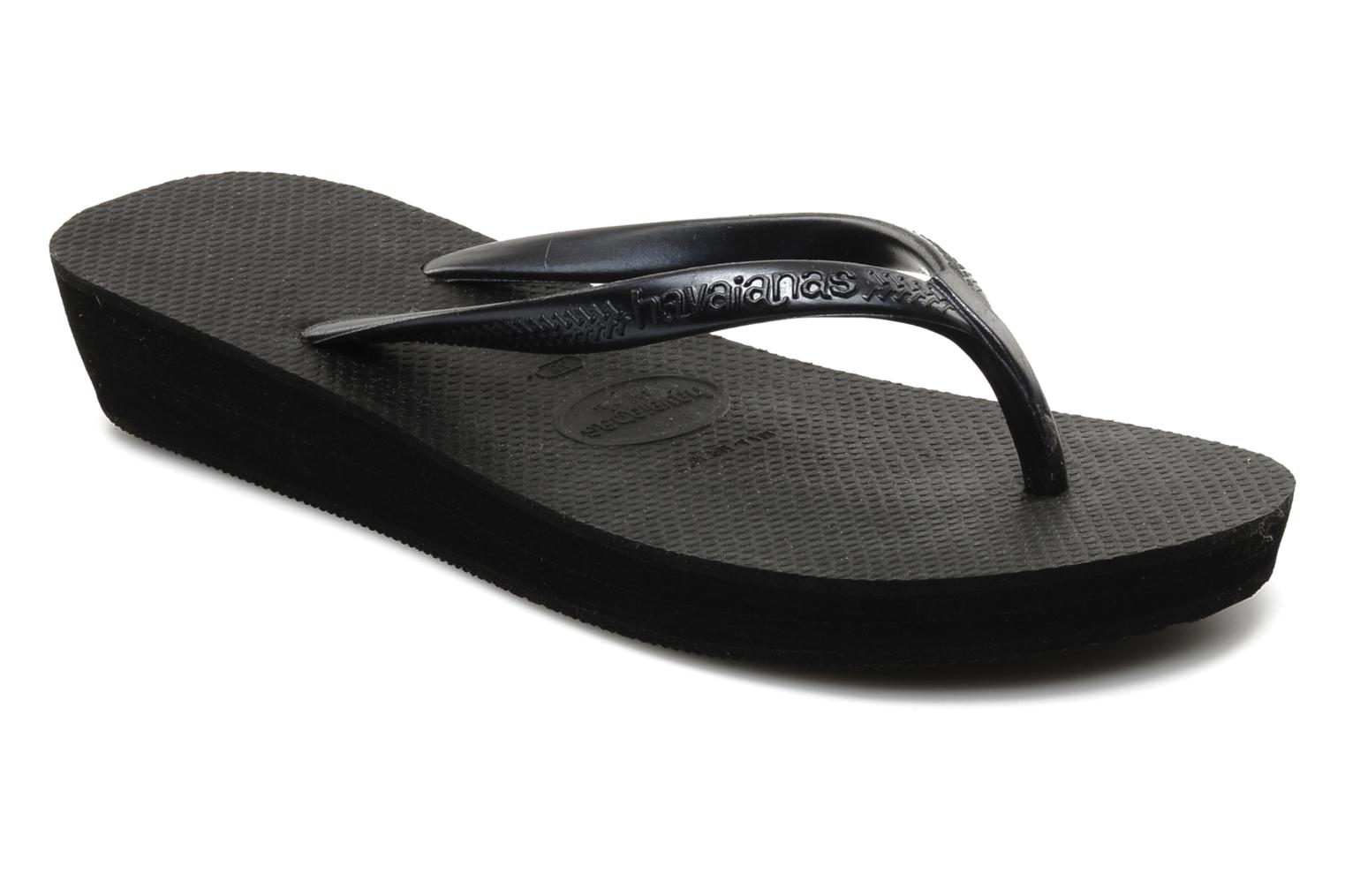 Tongs Havaianas High light F Noir vue détail/paire