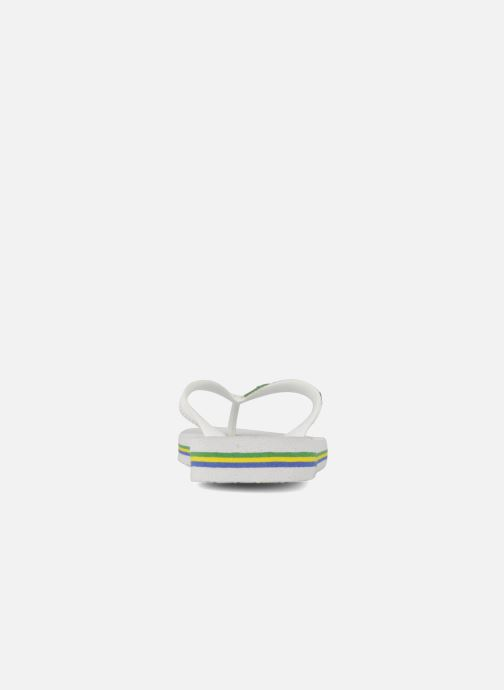 Flip flops Havaianas Brasil Logo E White view from the right