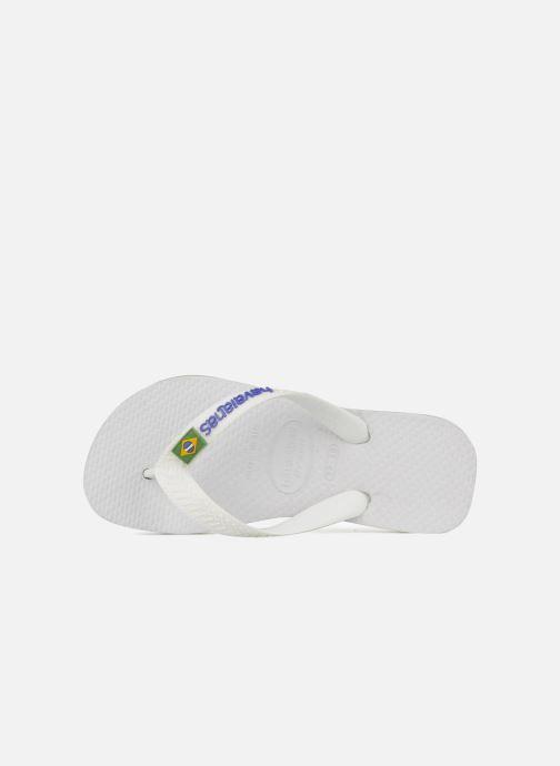 Flip flops Havaianas Brasil Logo E White view from the left