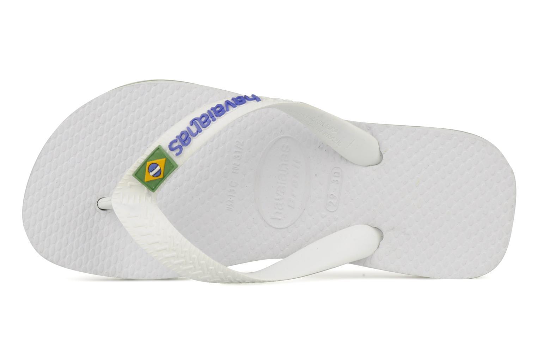 Infradito Havaianas Brasil Logo E Bianco immagine sinistra