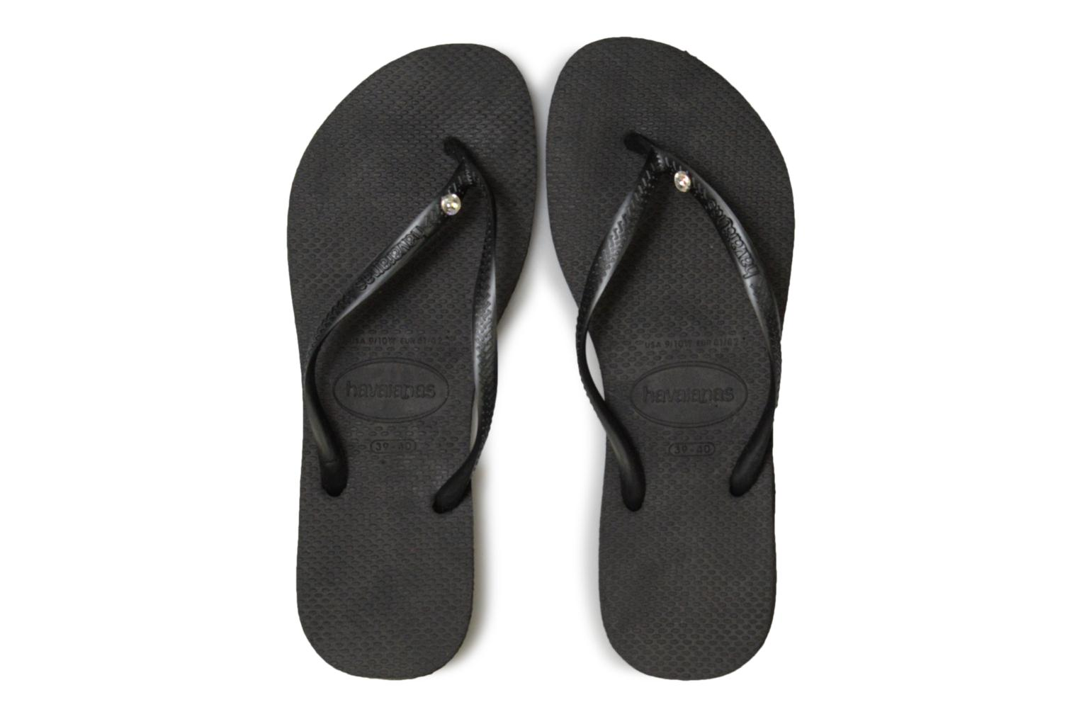 Flip flops Havaianas Slim Crystal Glamour Black model view