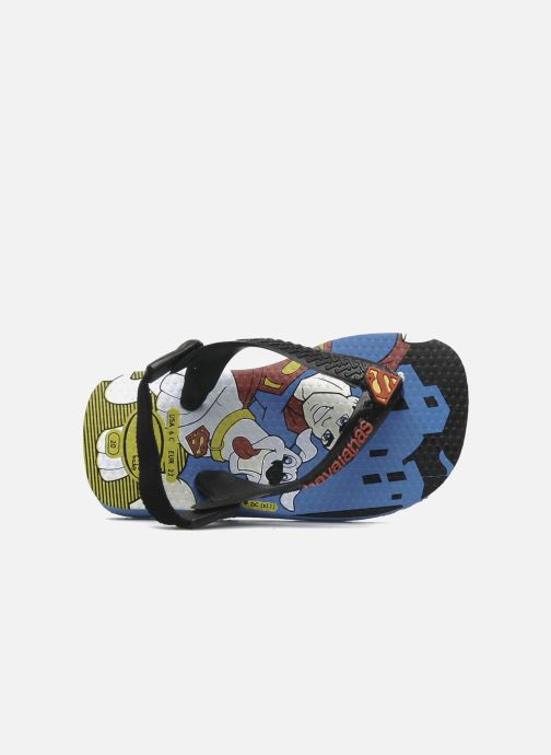 Flip flops Havaianas Baby Heroes Black view from the left