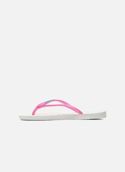 Slippers Havaianas Slim logo femme Roze voorkant