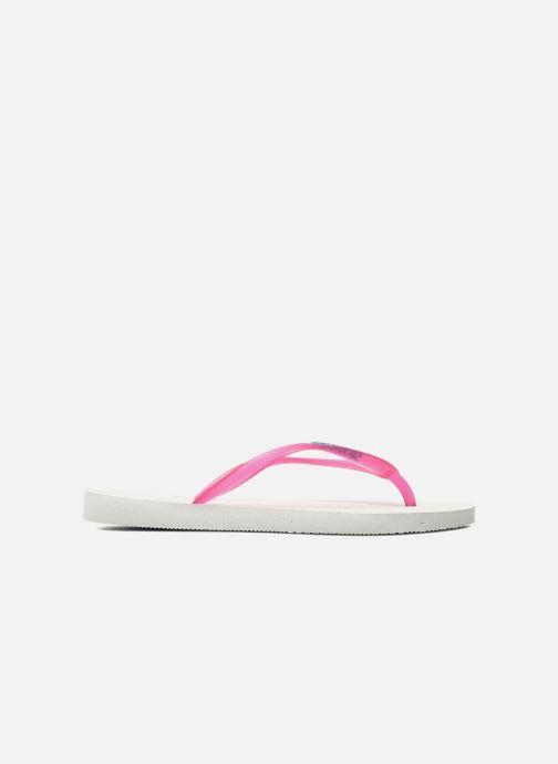 Slippers Havaianas Slim logo femme Roze achterkant