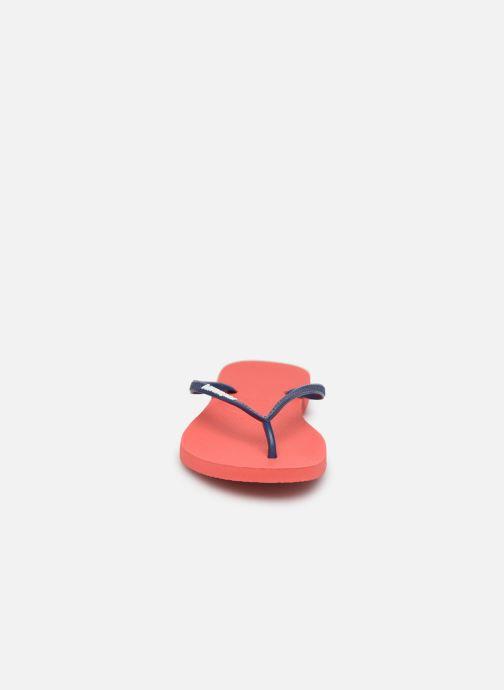 Tongs Havaianas Slim logo femme Orange vue portées chaussures