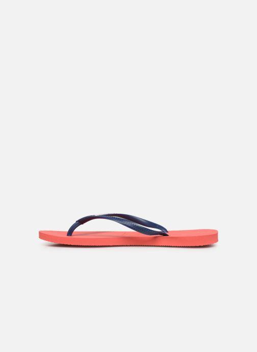 Slippers Havaianas Slim logo femme Oranje voorkant
