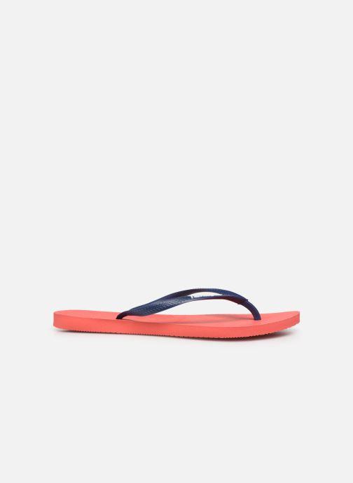 Slippers Havaianas Slim logo femme Oranje achterkant