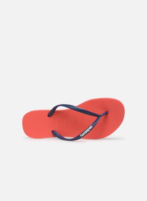 Slippers Havaianas Slim logo femme Oranje links