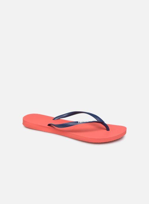 Slippers Havaianas Slim logo femme Oranje detail