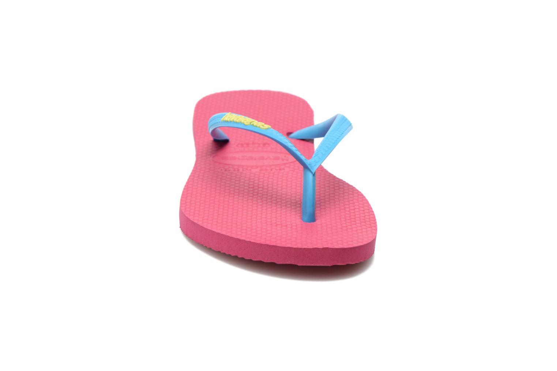 Flip flops Havaianas Slim logo femme Rosa bild av skorna på