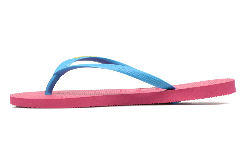 Flip flops Havaianas Slim logo femme Rosa bild från framsidan