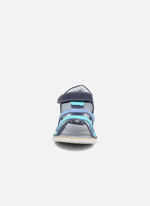 Sandalen Kickers Woopy blau schuhe getragen