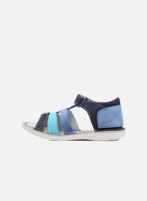 Sandalen Kickers Woopy blau ansicht von vorne