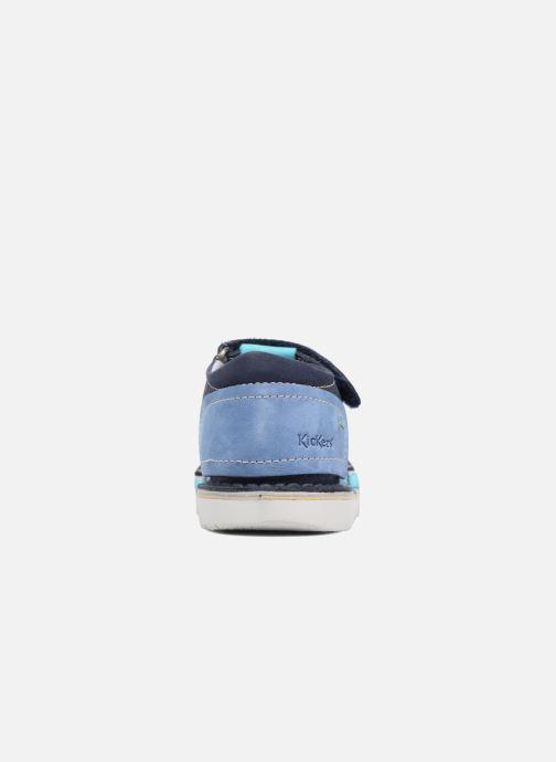 Sandalen Kickers Woopy blau ansicht von rechts