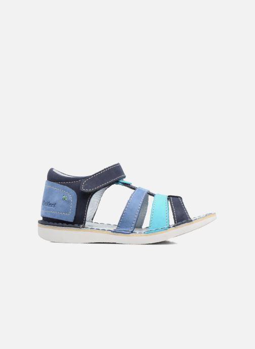 Sandalen Kickers Woopy blau ansicht von hinten