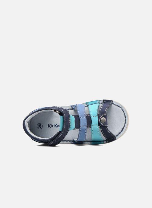 Sandalen Kickers Woopy blau ansicht von links