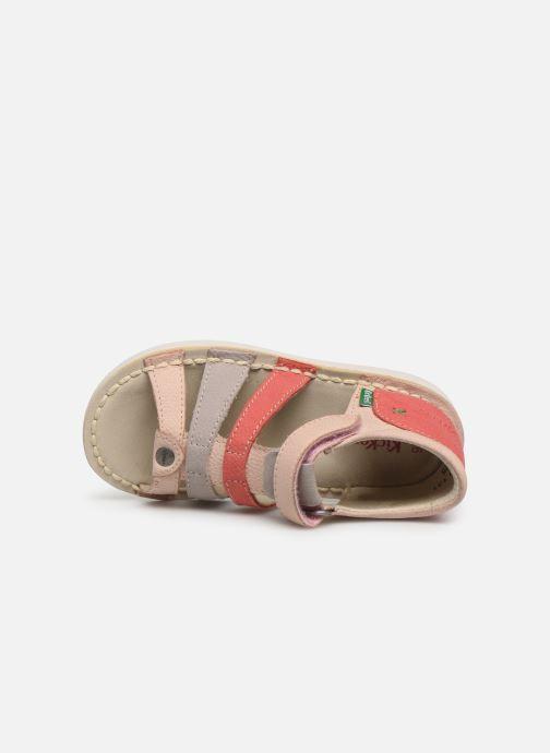 Sandaler Kickers Woopy Pink se fra venstre